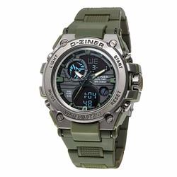 Đồng hồ thể thao 2 màn hình kiểu đồng hồ quân đội  D-Ziner D1.