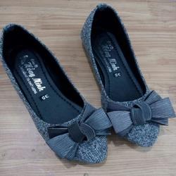 Giày búp bê nữ đẹp giá rẻ| Giày búp bê vải đính nơ