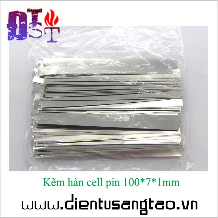 Kẽm hàn cell pin 100*7*1mm - Combo 10 thanh 1