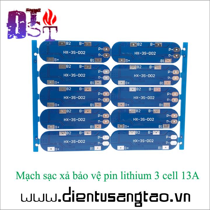 Mạch sạc xả bảo vệ pin lithium 3 cell 13A 5