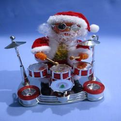 Hộp đồ chơi ông già Noel đánh trống cho bé