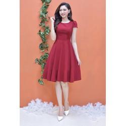 Đầm Xòe Tay Con Dễ Thương - Đỏ