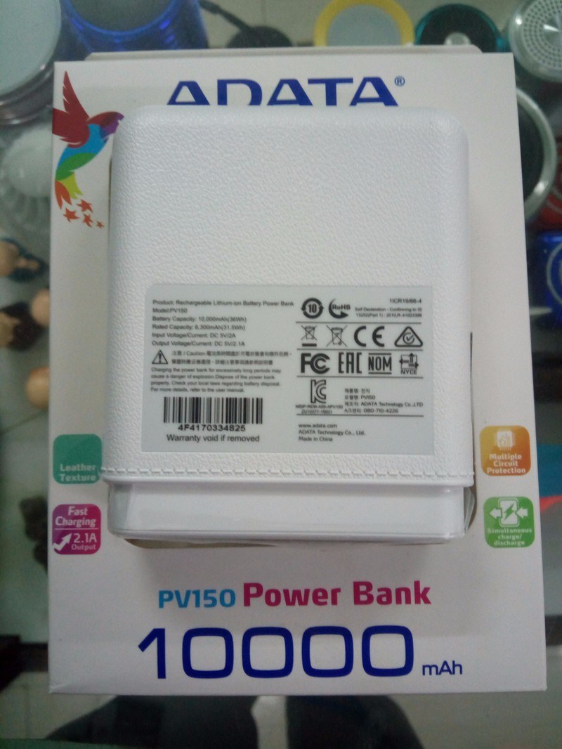 Shop In T Mai An Pin Sc D Phng 10000mah Pv150 Chnh Hng Powerbank Adata Leather Texture 2