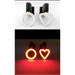 Đèn hoa văn cốt yên xe đạp