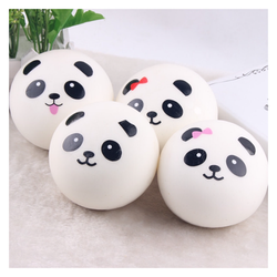 Móc khóa Squishy bánh bao panda 8cm