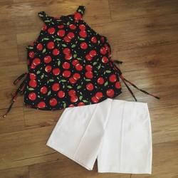 Set áo yếm hoa và quần short