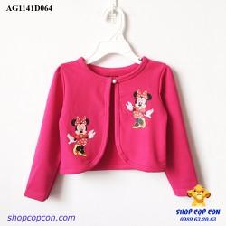 Áo khoác lững hình mimi màu hồng size 1-10