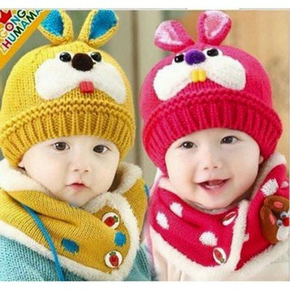 Mũ len kèm khăn cho bé - 221005 thumbnail