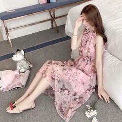 Đầm Maxi Hoa Nổi Hàng Quảng Châu