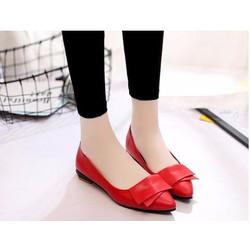 Giày búp bê đế bệt Safara- màu đỏ