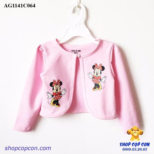 Áo khoác lững hình mimi màu hồng phấn size 1-10