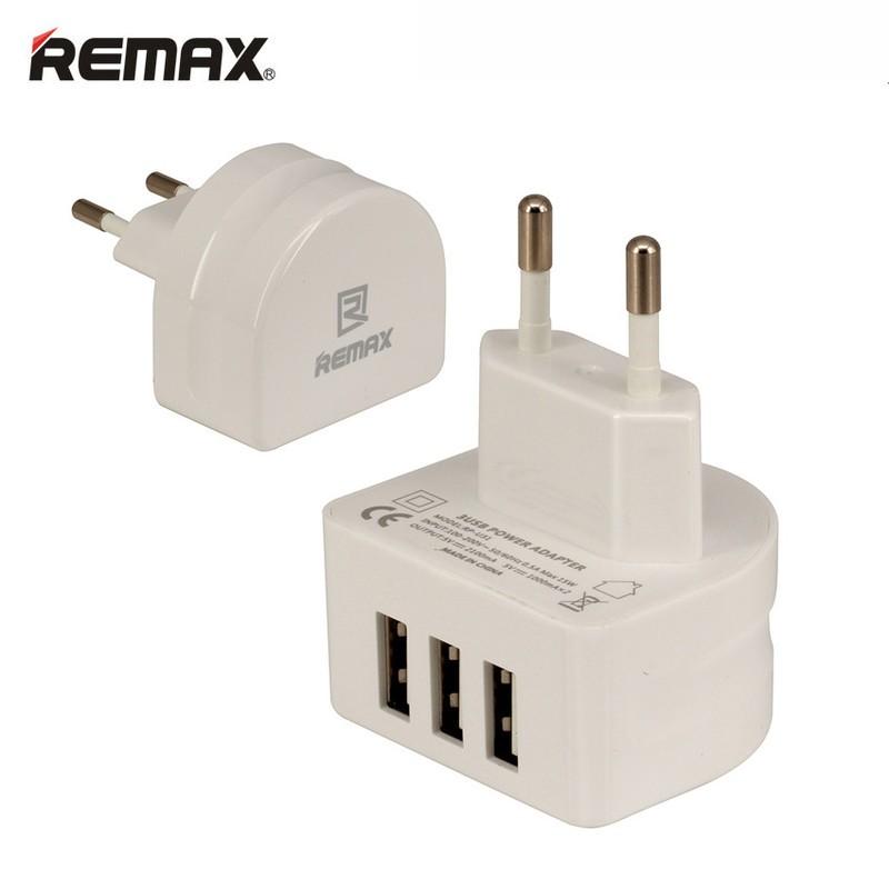Cốc sạc 3 cổng USB Remax RP-U31 3.1A