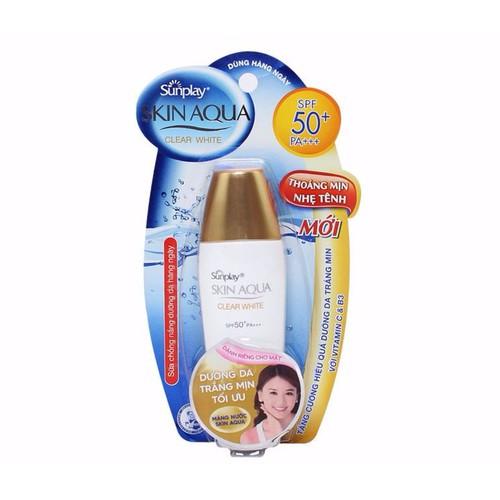 Sữa chống nắng Skin Aqua Dưỡng Da Trắng Mịn Tối Ưu SPF 50