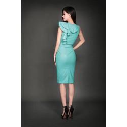 Đầm body xanh thiết kế độc đáo