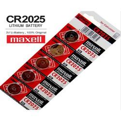 Pin CR2025 lithium Maxell 3V Vỉ 5 viên - Made in japan