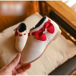 Giày boot nơ bé gái