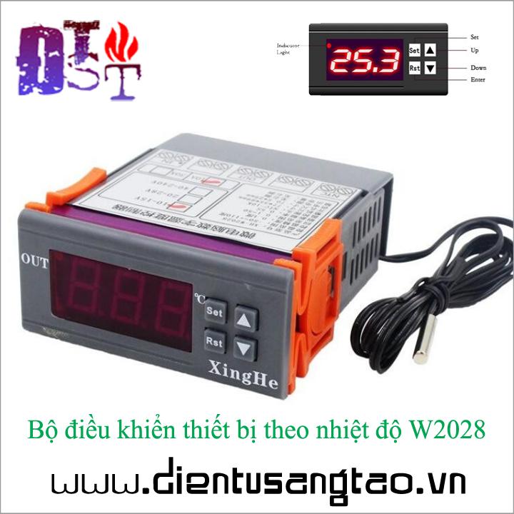 Bộ điều khiển thiết bị theo nhiệt độ W2028 12V 2
