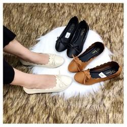 giày búp bê thắt nơ đơn giản