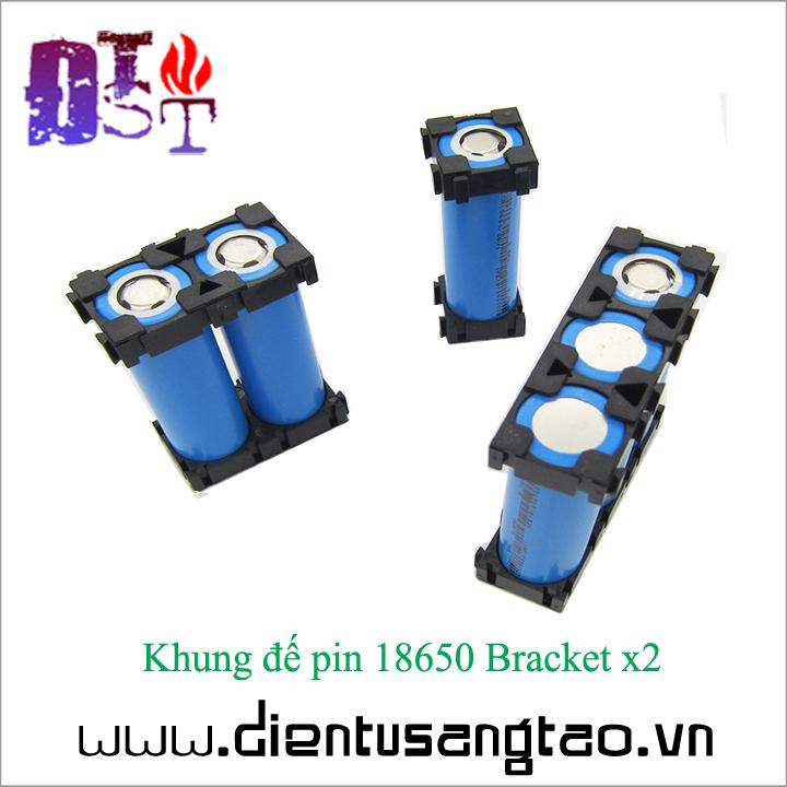 Khung đế pin 18650 Bracket x2  - Bộ 4 chiếc 2
