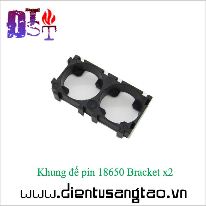 Khung đế pin 18650 Bracket x2  - Bộ 4 chiếc 4