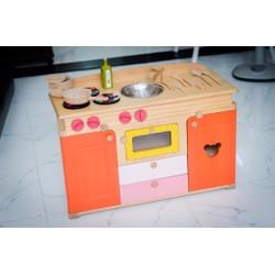 Bộ bếp nấu ăn đồ chơi cho bé bằng gỗ xuất khẩu
