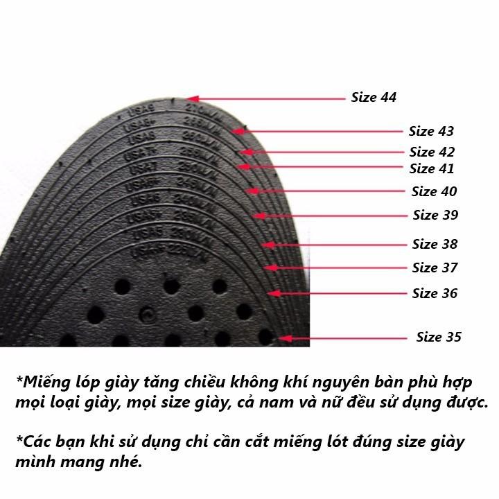 Lót giày tăng chiều cao nguyên bàn 3 lớp cao 7cm - K2288 - Sale hot 4