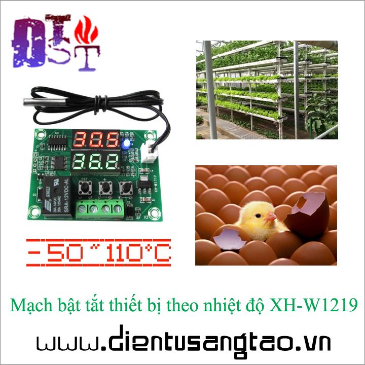 Mạch bật tắt thiết bị theo nhiệt độ XH-W1219 1