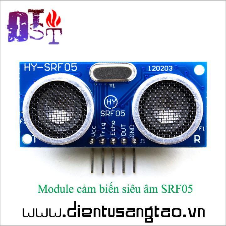 Module cảm biến siêu âm SRF05 1