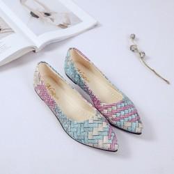 Giày bệt phối màu thời trang Hàn Quốc