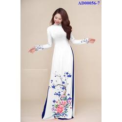 Vải áo dài in hoa Tâm Hải
