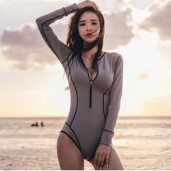Monokini khoá kéo - Đồ bơi một mảnh tay dài