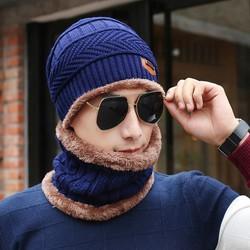 Nón len nam thời trang kèm khăn - FREE SHIP