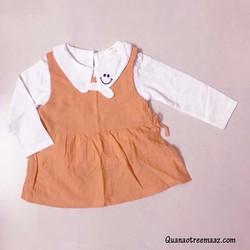 Set đồ bé gái đầm và áo thun chất