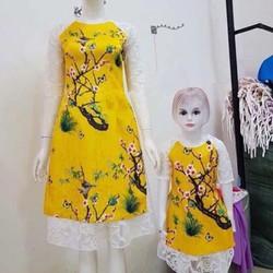 Set áo dài cách tân mẹ và bé 3 chi tiết
