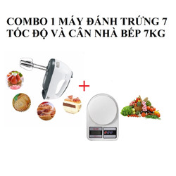 Combo Máy Đánh Trứng 7 Tốc Độ + Cân Nhà Bếp 7KG