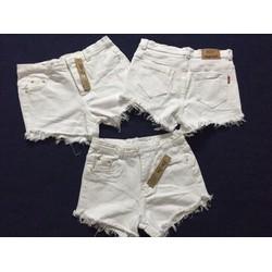 Quần sort nữ jean trắng