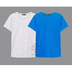 Bộ 2 áo thun trơn cotton nam, nữ giá sĩ xám tiêu, xanh da