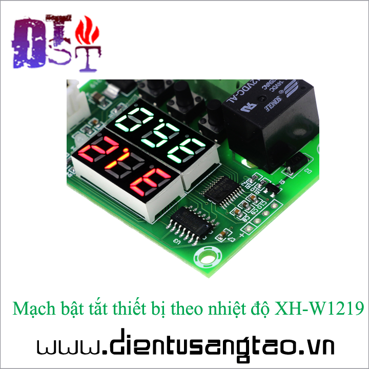 Mạch bật tắt thiết bị theo nhiệt độ XH-W1219 4