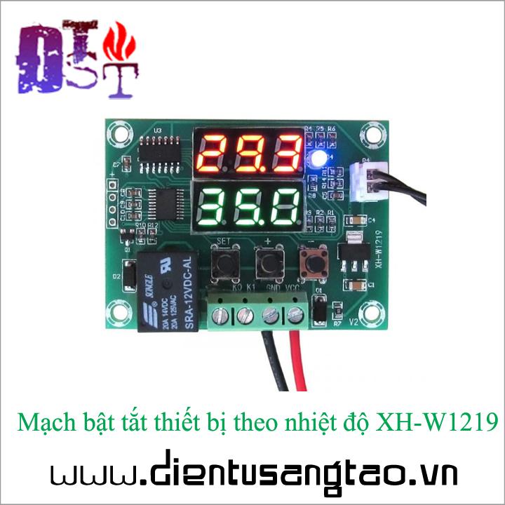 Mạch bật tắt thiết bị theo nhiệt độ XH-W1219 2
