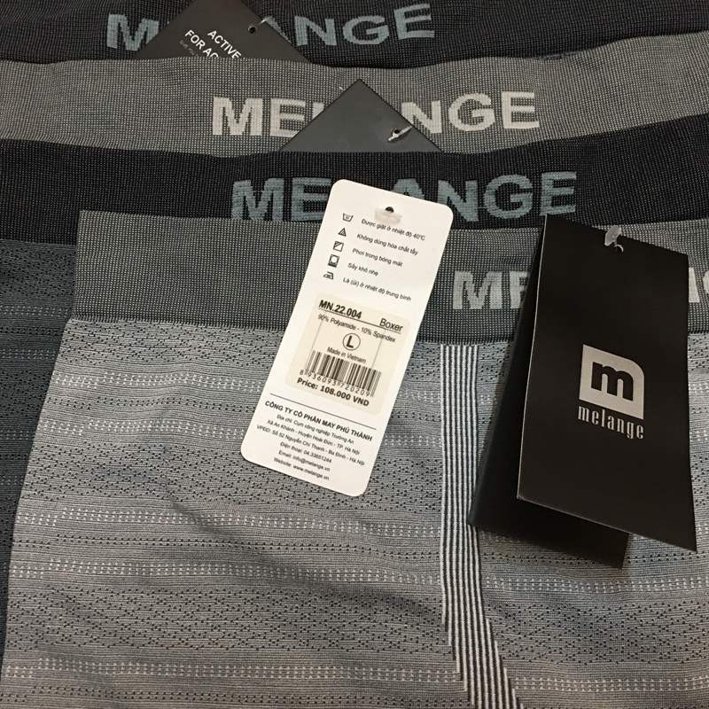Quần boxer dệt polyamid nam cao cấp MN.22.04 - Hàng chính hãng Melange 2
