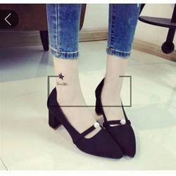 Giày búp bê 1 châu 5p cao gót