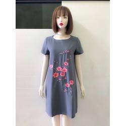 Đầm suông họa tiết hoa mai xinh xắn