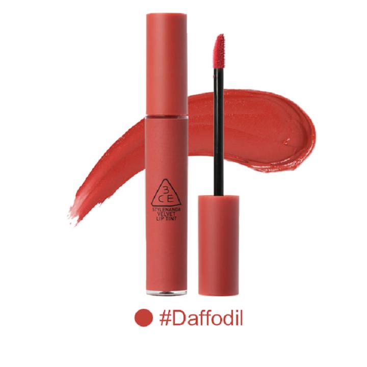 Son Kem Lì 3CE Velvet Lip Tint màu Daffodil - Đỏ Đất 1