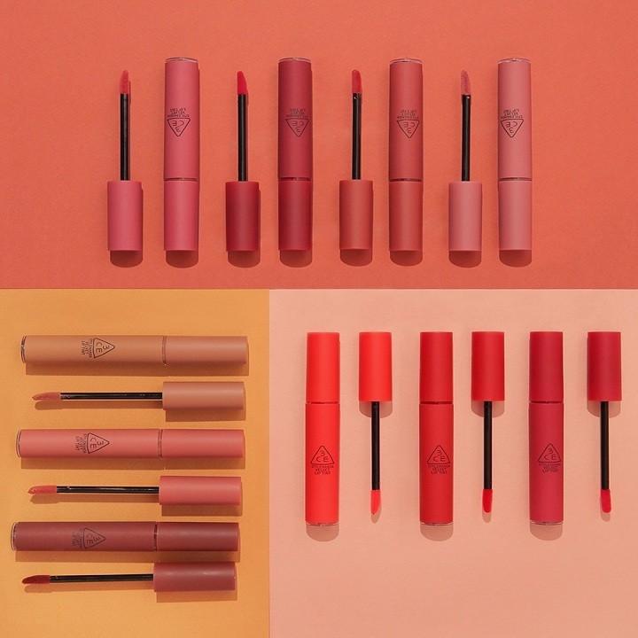 Son Kem Lì 3CE Velvet Lip Tint màu Daffodil - Đỏ Đất 4