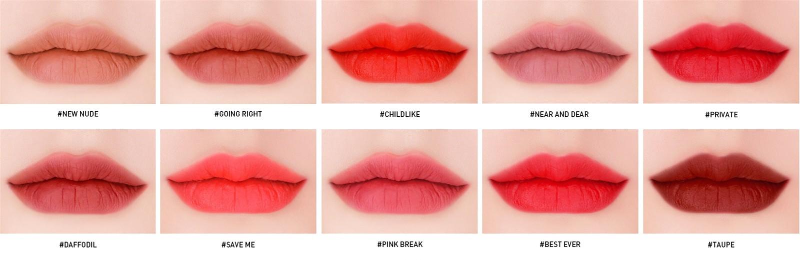 Son Kem Lì 3CE Velvet Lip Tint màu Private - Đỏ Lạnh 5