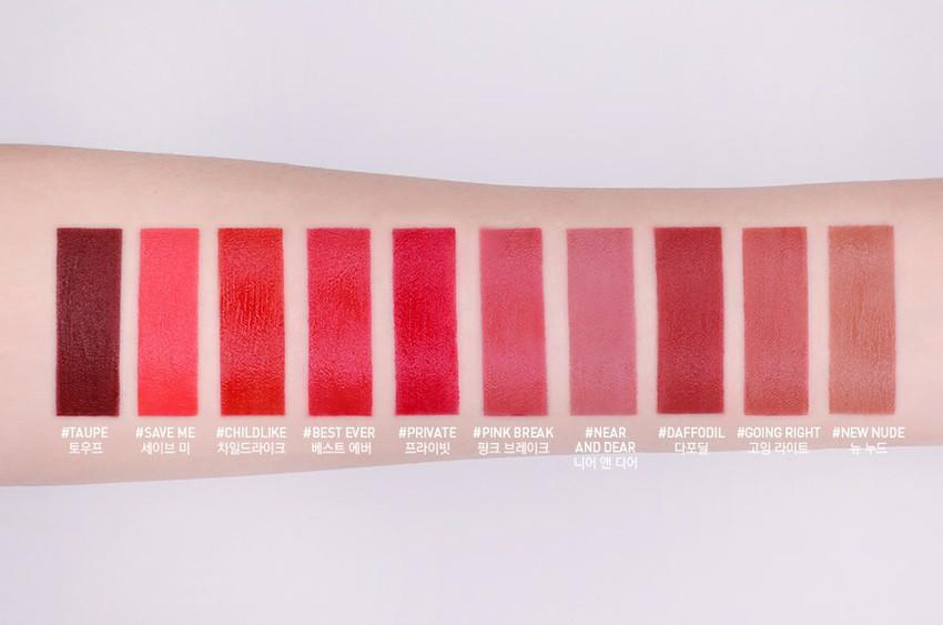 Son Kem Lì 3CE Velvet Lip Tint màu Private - Đỏ Lạnh 6