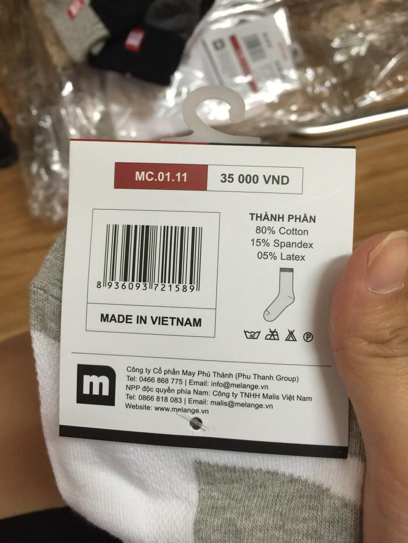 Tất nam cổ trung cao cấp Melange MC.01.11 - Made in Vietnam 3