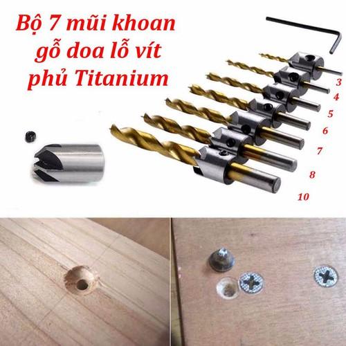 Bộ 7 mũi khoan gỗ doa lỗ vít phủ titanium-Mũi khoan âm gỗ - 10528747 , 8138964 , 15_8138964 , 120000 , Bo-7-mui-khoan-go-doa-lo-vit-phu-titanium-Mui-khoan-am-go-15_8138964 , sendo.vn , Bộ 7 mũi khoan gỗ doa lỗ vít phủ titanium-Mũi khoan âm gỗ