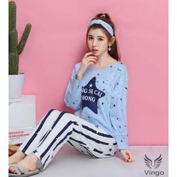 Bộ đồ ngủ hoạt hình Star cao cấp thương hiệu Vingo