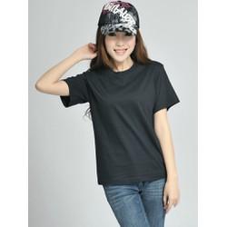 Áo thun nữ trơn cotton form rộng - Màu đen